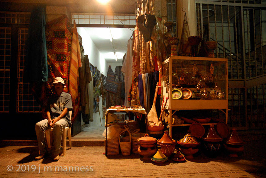 Tangiers Leather Shop at Night - Morocco, 2006